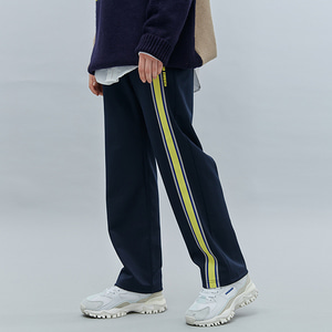 FRONT TAPE TRACK PANTS NAVY