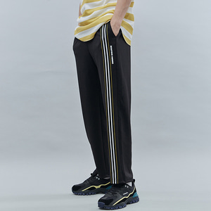 FRONT TAPE TRACK PANTS BLACK