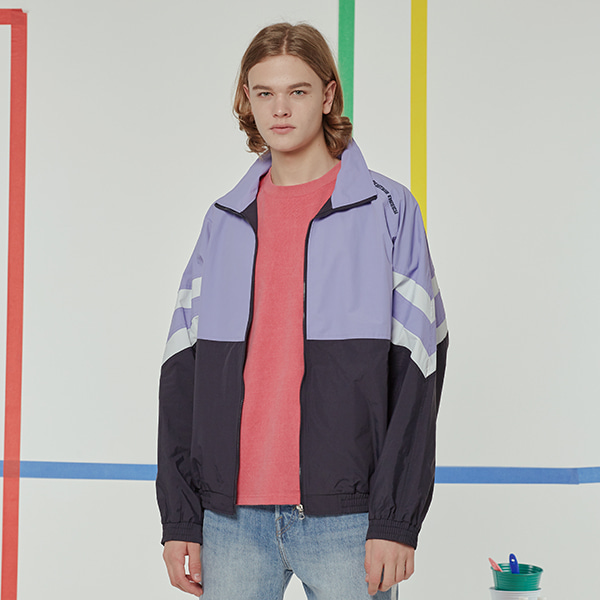 NEWTRO COLOR BLOCK TRACK JACKET LAVENDER